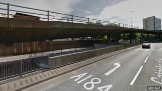 The underpass at the roundabout of Park Lane