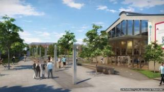 An artists' impression of how the regenerated University of Gloucestershire Pittville Campus will look