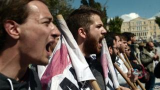 Greek students protest against plans to overhaul the country's university system in 2013