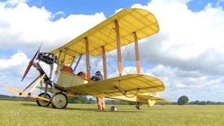 Bleriot biplane