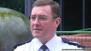 Acting chief fire officer Adam Eckley