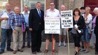 Campaigners outside Lowestoft Town Hall