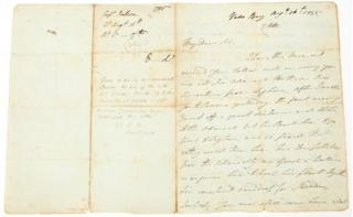 Letter written by Lord Nelson