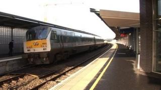 Enterprise train at Newry station