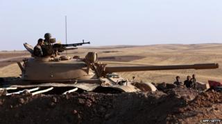 Kurdish fighters in Iraq