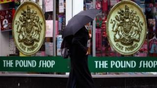 Pound shop in Glasgow