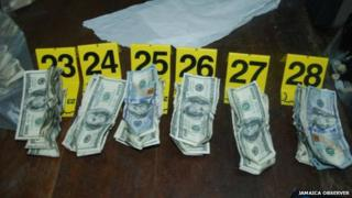 Some of the cash recovered