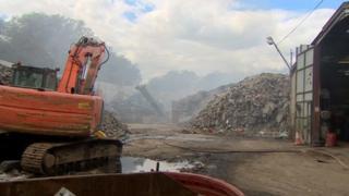 Averies Recycling Ltd - recycling fire in Swindon
