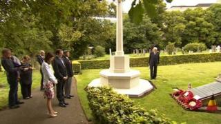 Ceremony at Welford Road Cemetery in Leicester