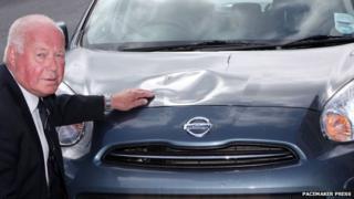 Sammy Brush and his car