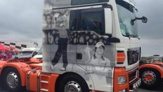Rory McIlroy truck