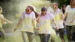Run for Colour fun run in Inverness