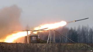 Grad rocket launch - file pic