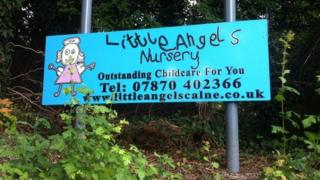 Little Angels Nursery sign