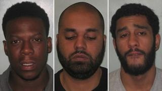 From left: Martell Warren, Hassan Hussain and Yassin James