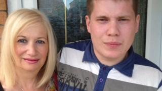 Karen Struel-White and her son Sam