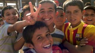Displaced Yazidi children in Zakho district of Dohuk province