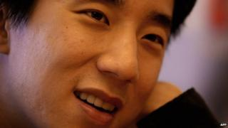 Jaycee Chan, son of international martial arts hero Jackie Chan, talks about his latest film, 'The Drummer' in Hong Kong, on 28 September 2007