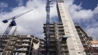 High-rise flats under construction in London