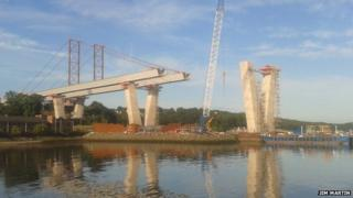 Building Queensferry Crossing Pic: Jim Martin