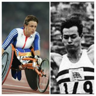 Tanni Grey-Thompson a Lynn Davies
