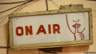 On Air sign at Radio Shabelle - December 2012