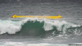 Aquamarine Power's Oyster 800 wave energy converter in operation