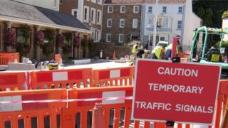St Aubin roadworks