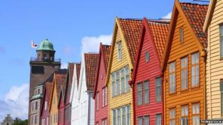 Houses in Bergen, Norway