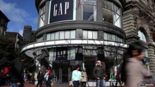 Gap store outdoor in San Francisco