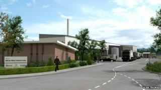 Sinfin plant, artists impression