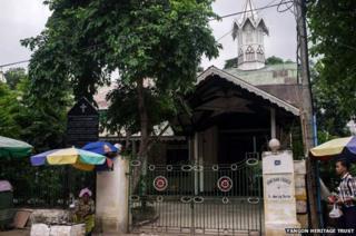 The Armenian church in Yangon