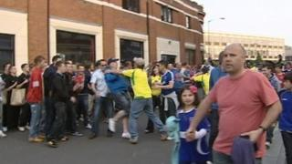 Supporter at Ipswich v Norwich 2011