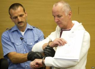 Defendant Detlev Guenzel in court, 22 Aug 14