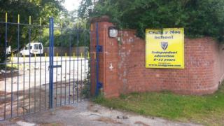 Craig y Nos school gates