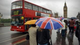 Wet weather in London