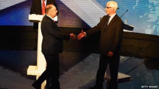Salmond Darling handshake first debate