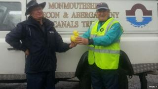 Tony Pugh and Roger Francis of the Monmouthshire, Brecon and Abergavenny Canals Trust