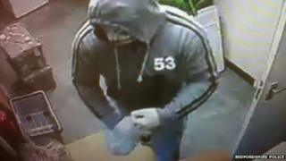 Armed robber in Wootton, Bedfordshire