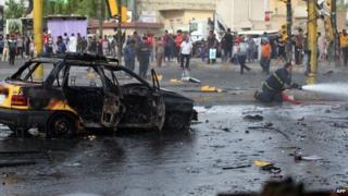 Car bomb in Baghdad 26 August 2014