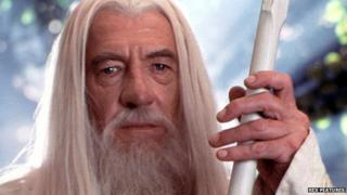 Sir Ian McKellen in Lord of the Rings