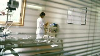 Nurse in hospital ward