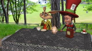 Mad Hatter and rabbit