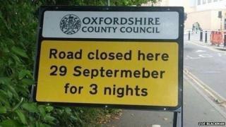 Misspelled sign