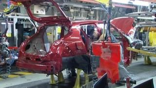 Sunderland's Nissan production line