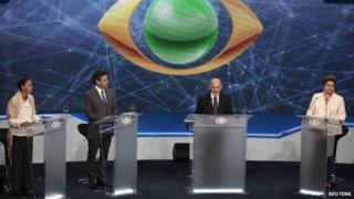 Presidential candidates in TV debate. 26 Aug 2014
