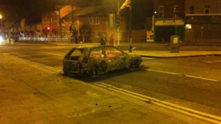 A car was burned out in east Belfast