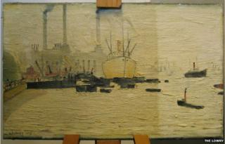The Thames at Greenwich by LS Lowry