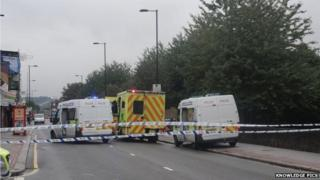 Whitehorse Road cordoned off