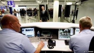 Frankfurt airport passport control - file pic